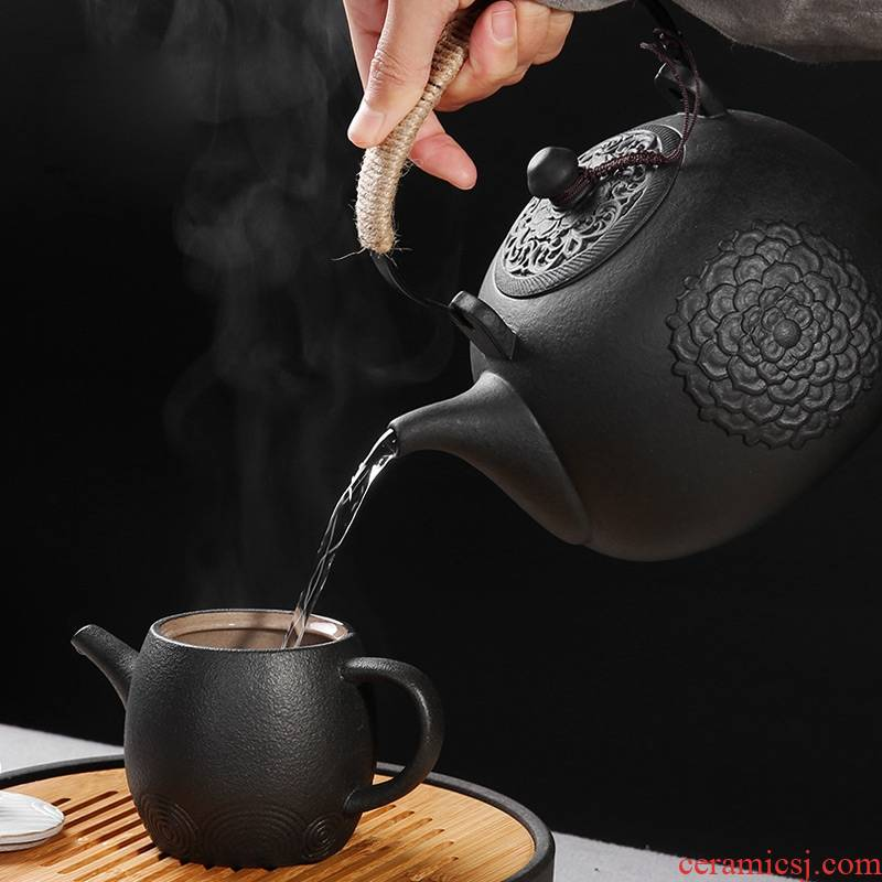 Qiao mu lava rock - girder pot home electricity TaoLu suit electric.mute boiled tea stove kung fu tea, burn