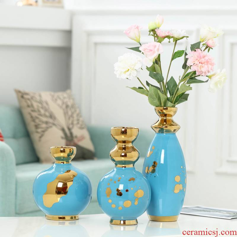 Jingdezhen paint ceramic are dried flowers Nordic furnishing articles living room table vase household decoration ideas of I and contracted