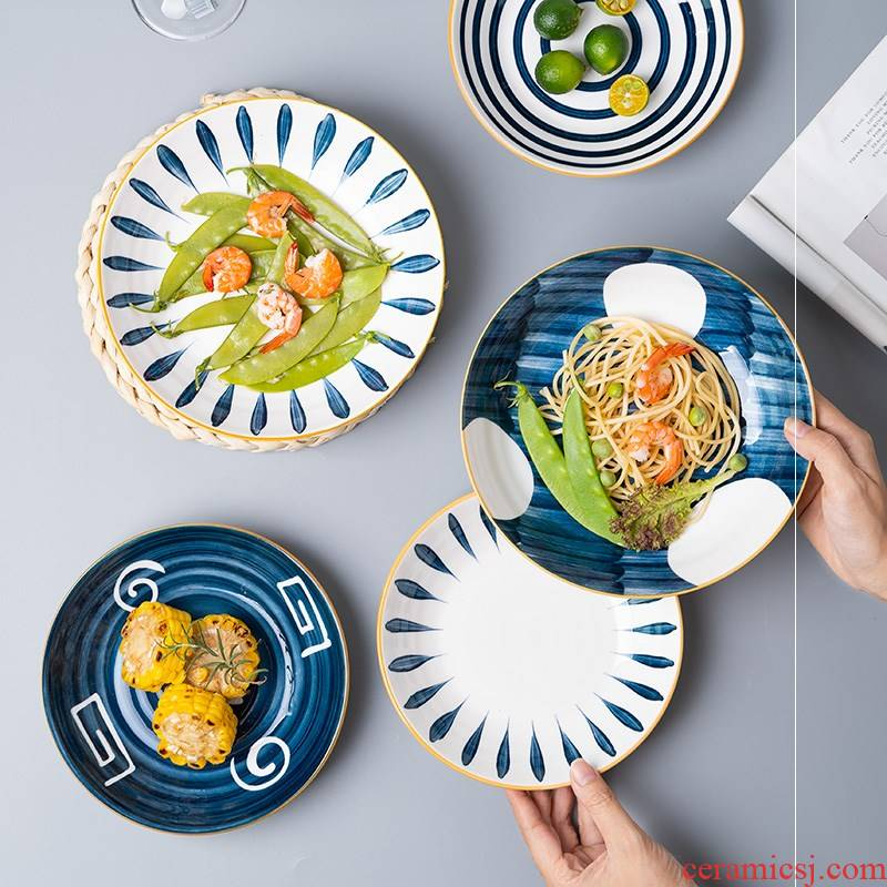 Ceramic plate Japanese household FanPan creative dishes soup plate character breakfast dish fruit salad dish steak dinner plate