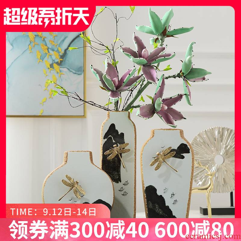 New Chinese style ceramic vases, flower arranging soft outfit furnishing articles, the sitting room porch decorative furnishing articles home decoration arts and crafts