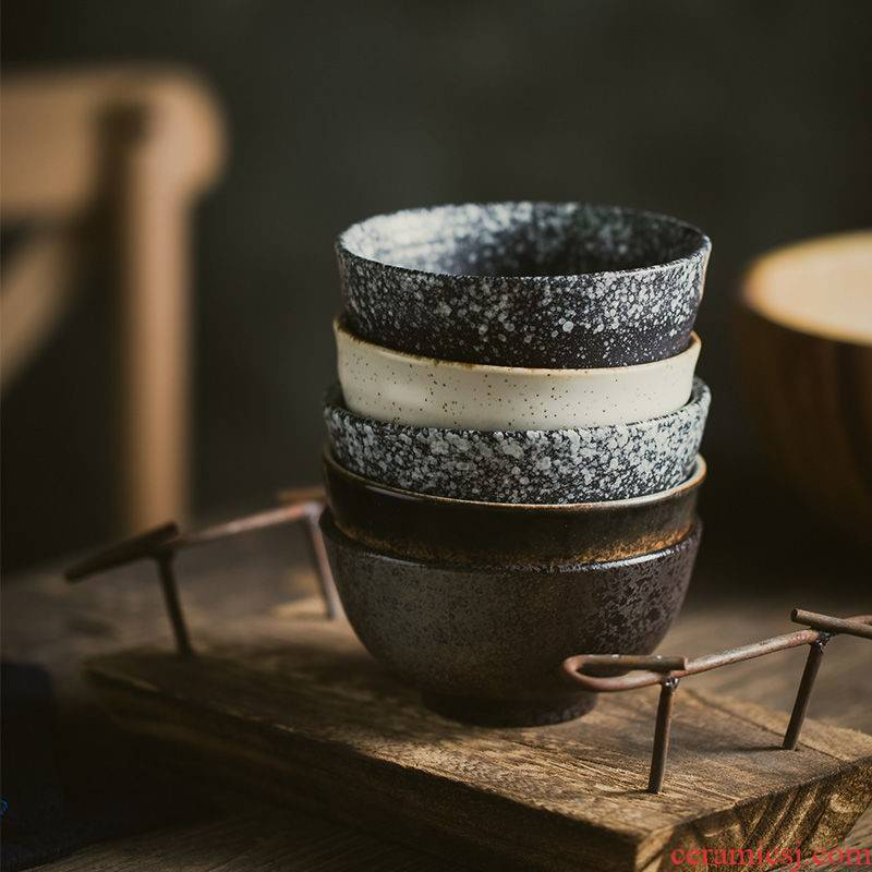 Restoring ancient ways the Japanese kitchen tableware ceramic dishes home eat rice bowls bowl restaurant porringer treasure bowl