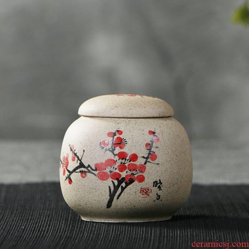 Jasmine tea pot, ceramic seal tank household receives a large small portable storage tanks tea boxes