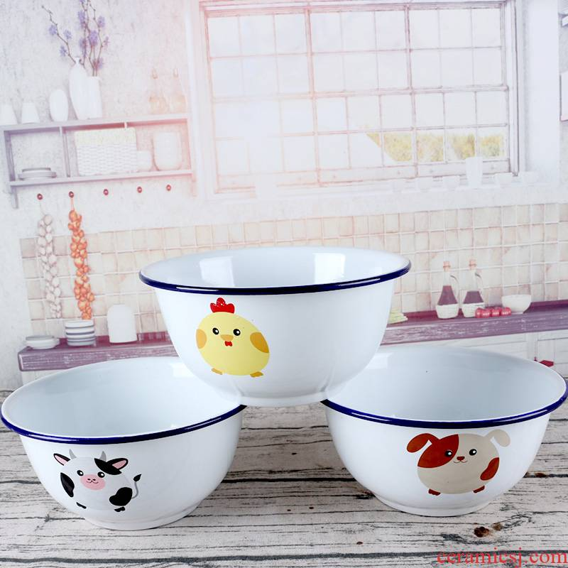 Baby enamel bowls with cover nostalgic old vintage enamel bowls of domestic cartoon enamel mercifully rainbow such as bowl upset small jobs
