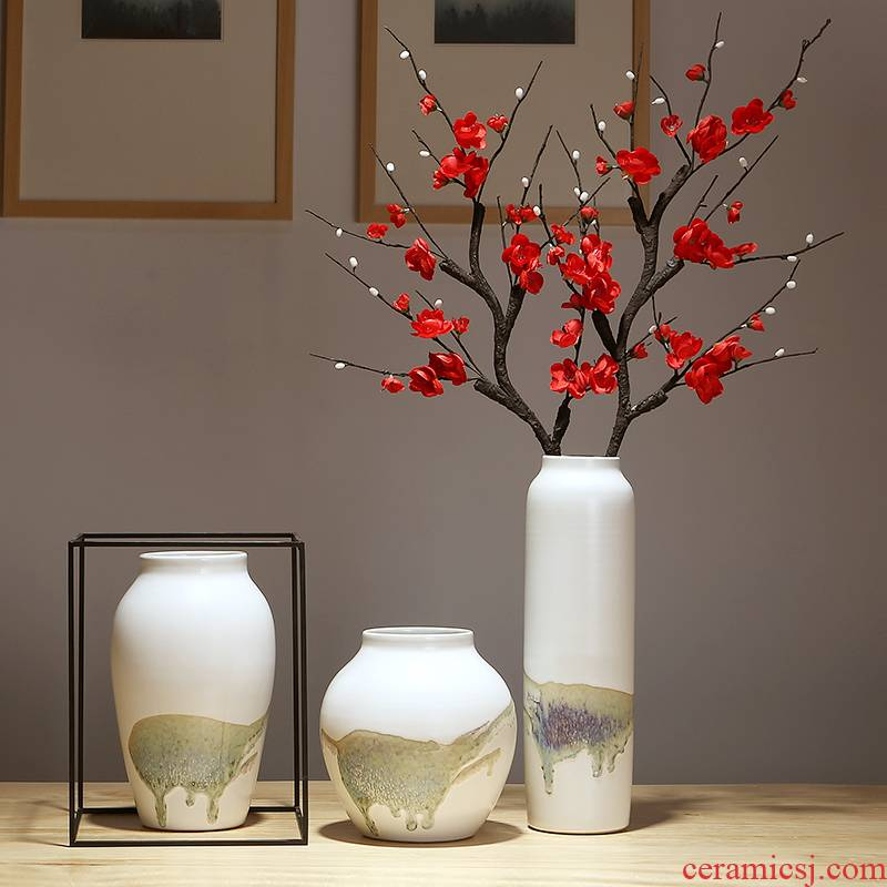 Ceramic vase furnishing articles I and contracted home sitting room TV ark, flower vase bedroom adornment dried flower vase