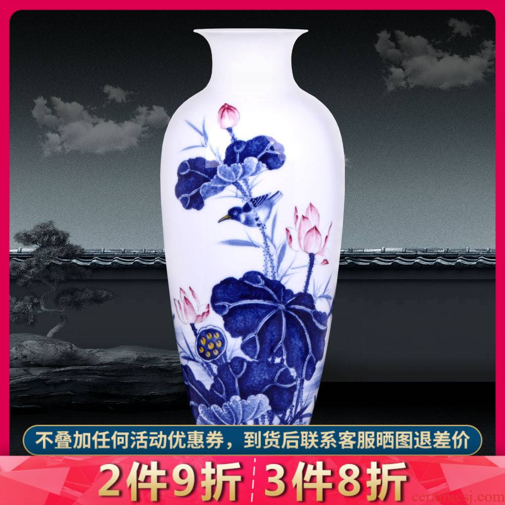 Jingdezhen ceramics hand - made porcelain dou color TV ark, furnishing articles zen vases, flower arrangement of Chinese style household arts and crafts