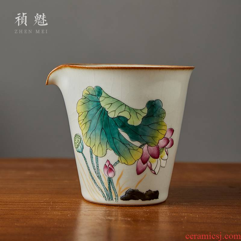 Fair keller shot incarnate your up hand - made lotus jingdezhen ceramic kung fu tea accessories large tea sea points