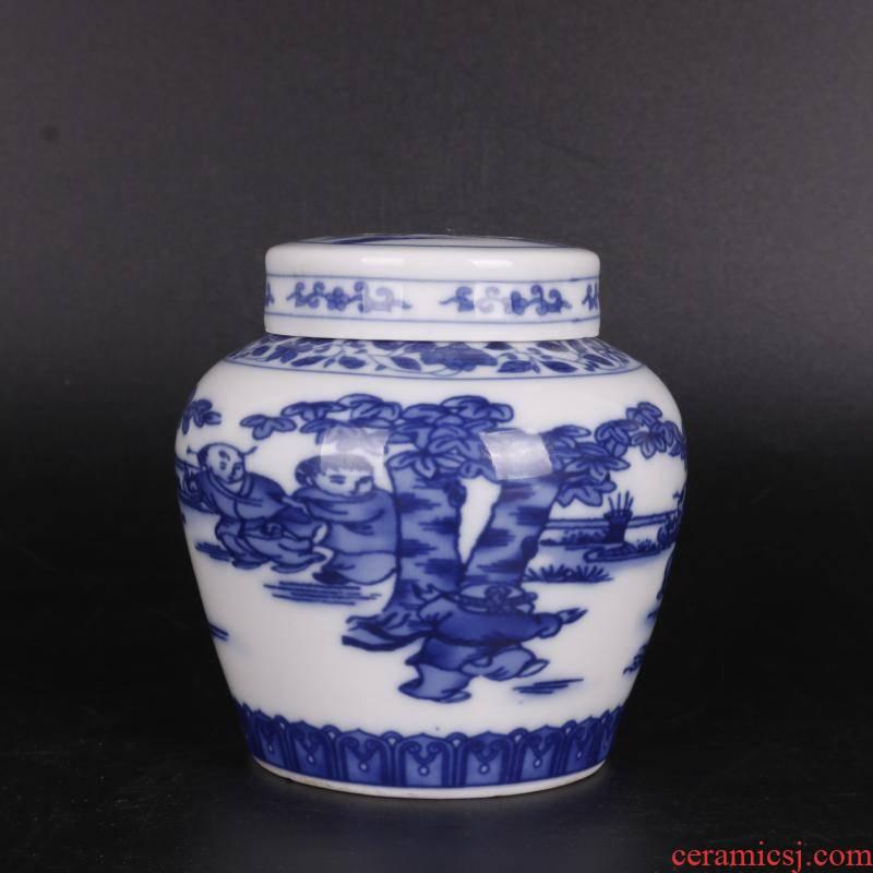 Antique handicraft MingChengHua YingXiWen tianzi canister to thin foetus Antique porcelain tea pot home furnishing articles