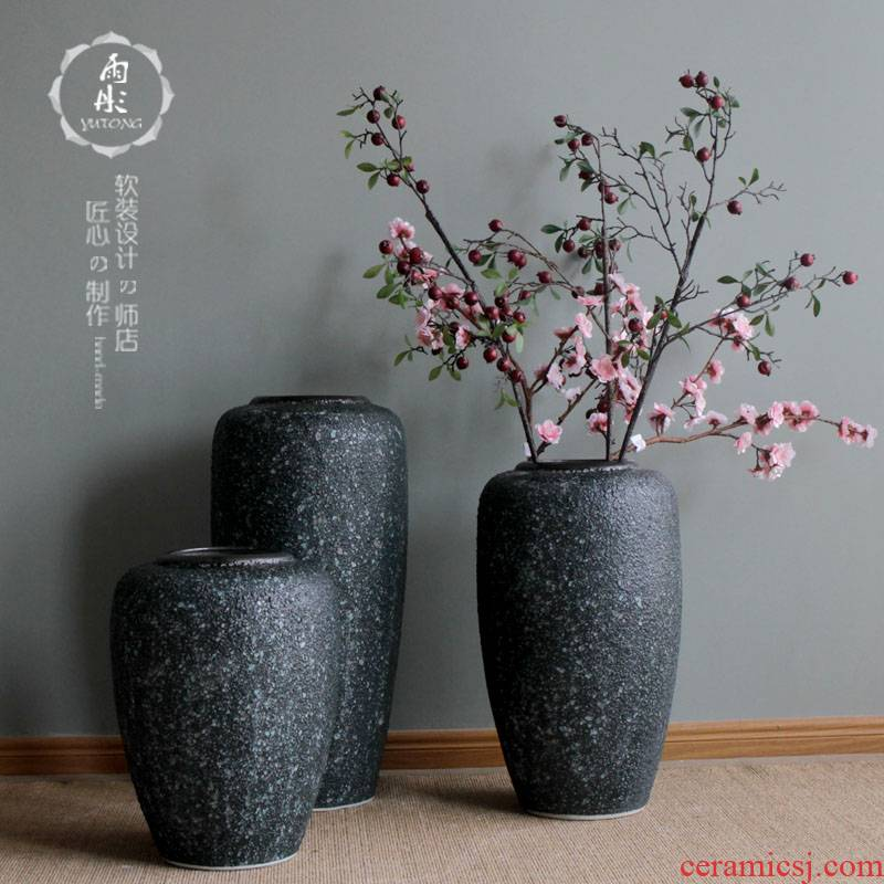 European modern creative contracted sitting room of large household soft adornment ceramics pottery flower flower art furnishing articles