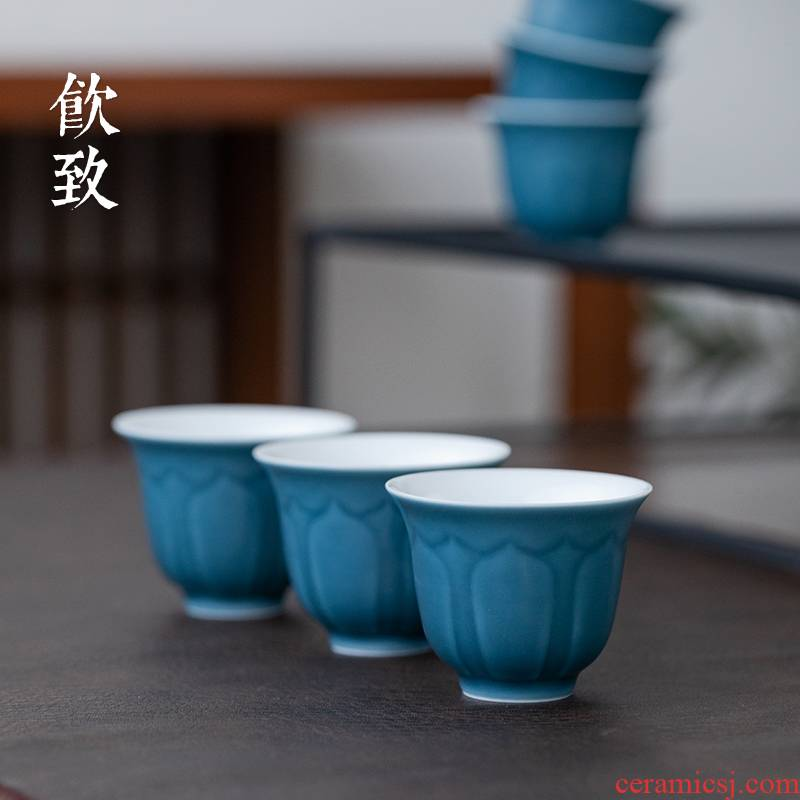 If ultimately responds to lotus cup jingdezhen glaze color sample tea cup manual single cup tea set personal little kung fu master CPU