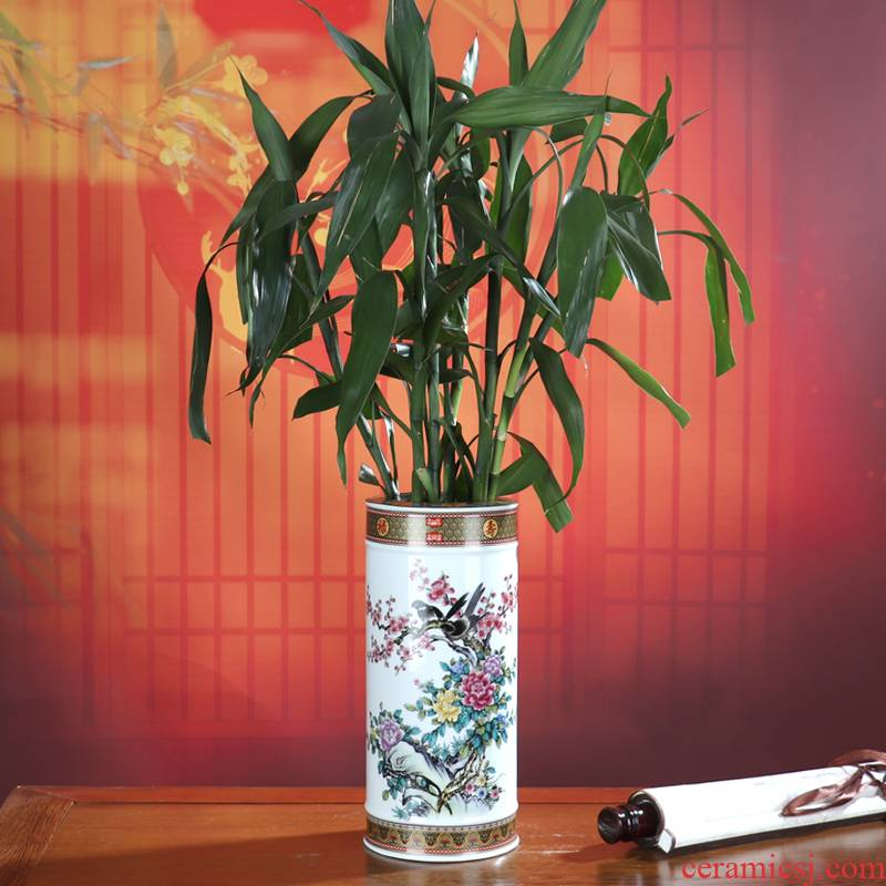 Jingdezhen ceramics furnishing articles dried flower arranging flowers sitting room lucky bamboo vase water raise hydroponic crafts modern decoration