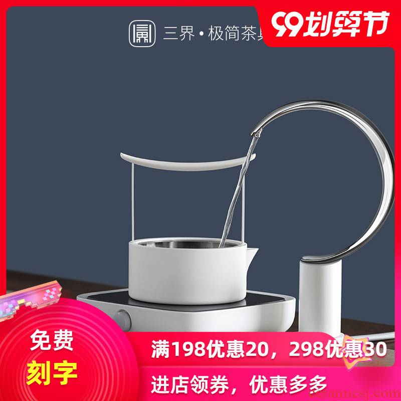 Permeating the tea stove 304 stainless steel cooking pot tea set electric TaoLu bottled water pumping device home cooked meal