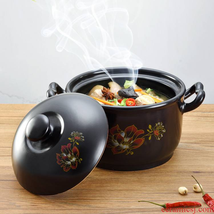 Buy one, get one crock pot stew of household ceramics simmering casserole soup pot gas flame to hold to high temperature crock in clay pot soup