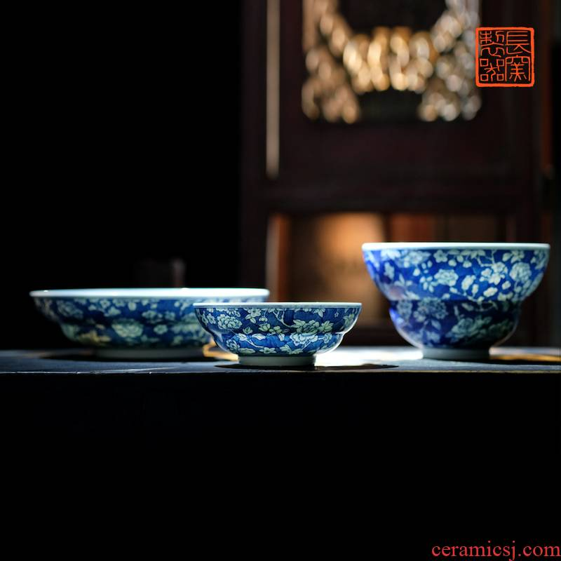 Offered home - cooked ju long up controller hand - made porcelain white flowers breakfast or bowl of jingdezhen porcelain tableware by hand