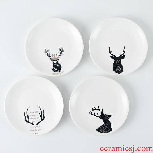 4 to 6 inches 15 cm ceramic household small dishes to spit the ipads plates table garbage disc cake plate snack plate