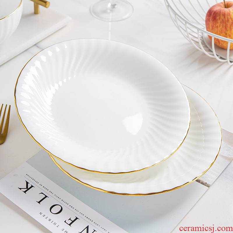 The Is rhyme European - style soup plate creative dishes ipads porcelain tableware ceramics household deep deep dish plate plate up phnom penh 0