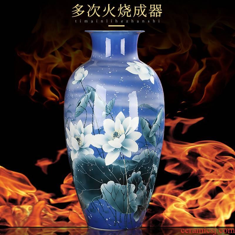 Master hand of jingdezhen ceramics vase furnishing articles flower arrangement sitting room adornment style high landing crafts