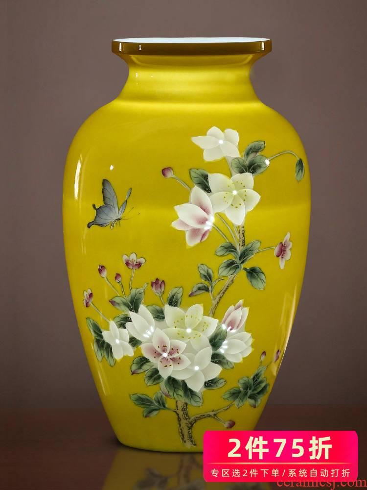 Jingdezhen ceramics yellow emperor hand - made exquisite knife clay vase furnishing articles creative home TV ark, adornment