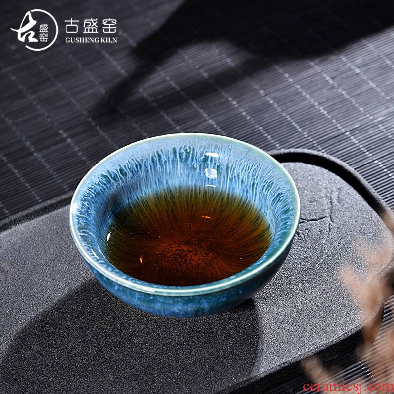 The ancient sheng up of The new season sample tea cup of pottery and porcelain up masterpieces temmoku build master cup single CPU TuHao tea light