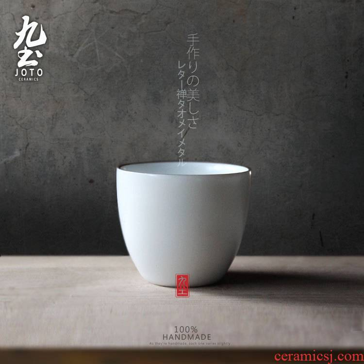 About Nine soil sample tea cup tea banquet side zijin Japanese white porcelain of jingdezhen thin foetus kung fu cup of the tea taking tea cups water