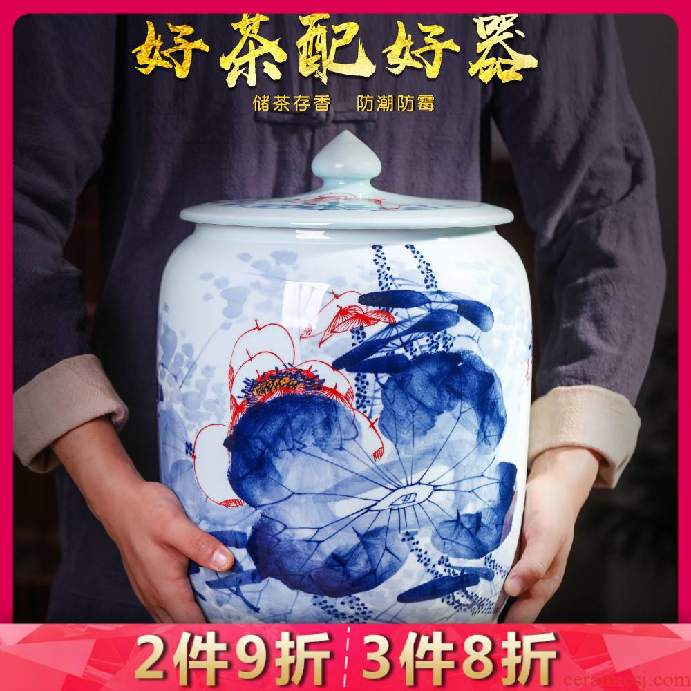 Jingdezhen ceramics hand - made porcelain tea pot home moistureproof mildew seal pot large with cover tea pot