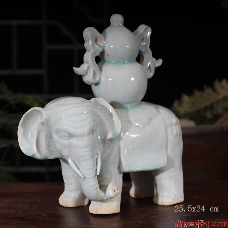 Jingdezhen blue and white elephant China hanging lucky elephant China hanging blue and white porcelain decoration