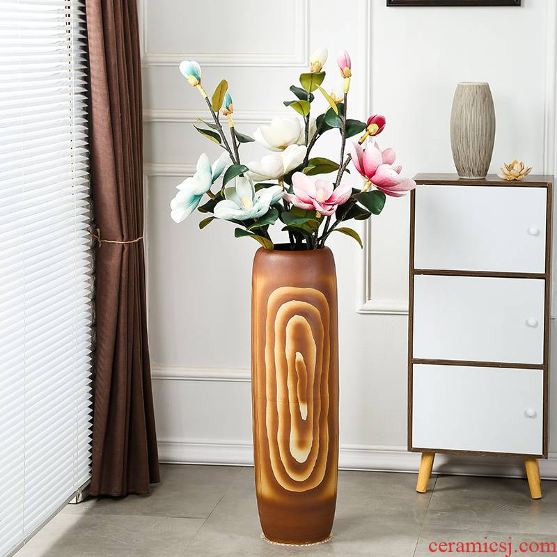Jingdezhen creativity ground vase gagarin 】 【 large dried flowers flower arrangement sitting room of I and contracted Europe type restoring ancient ways