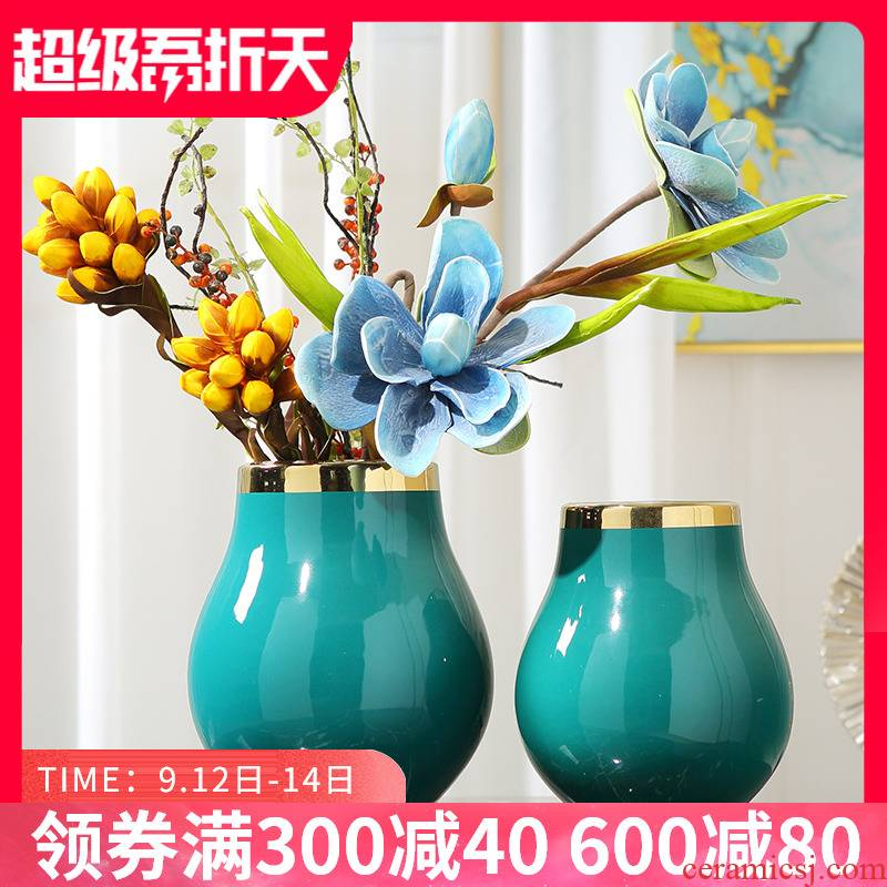 New Chinese style in modern decorative vase furnishing articles sitting room TV cabinet dry flower contracted storage tank ceramic household act the role ofing is tasted
