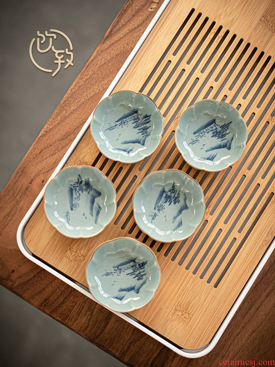 Ultimately responds to jingdezhen hand - made ceramic cups single sample tea cup large antique kung fu master cup single cup tea cup