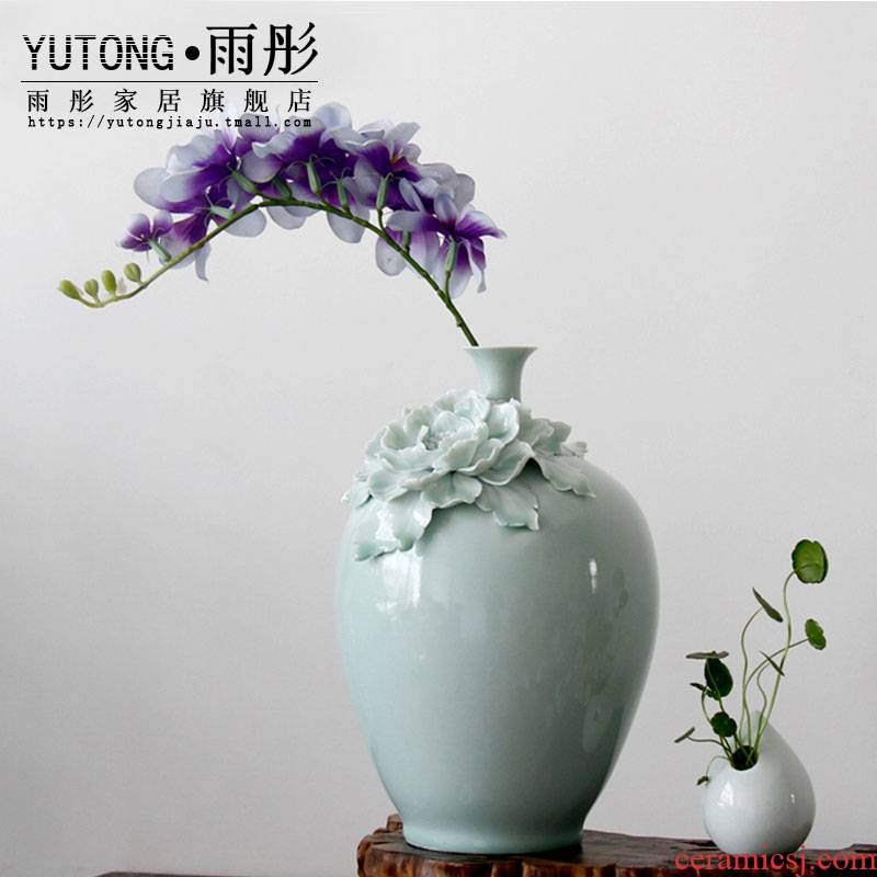 Celadon vase hydroponic flower bottle vase water raise household small expressions using narrow expressions using sitting room adornment flowers, flower arranging money plant