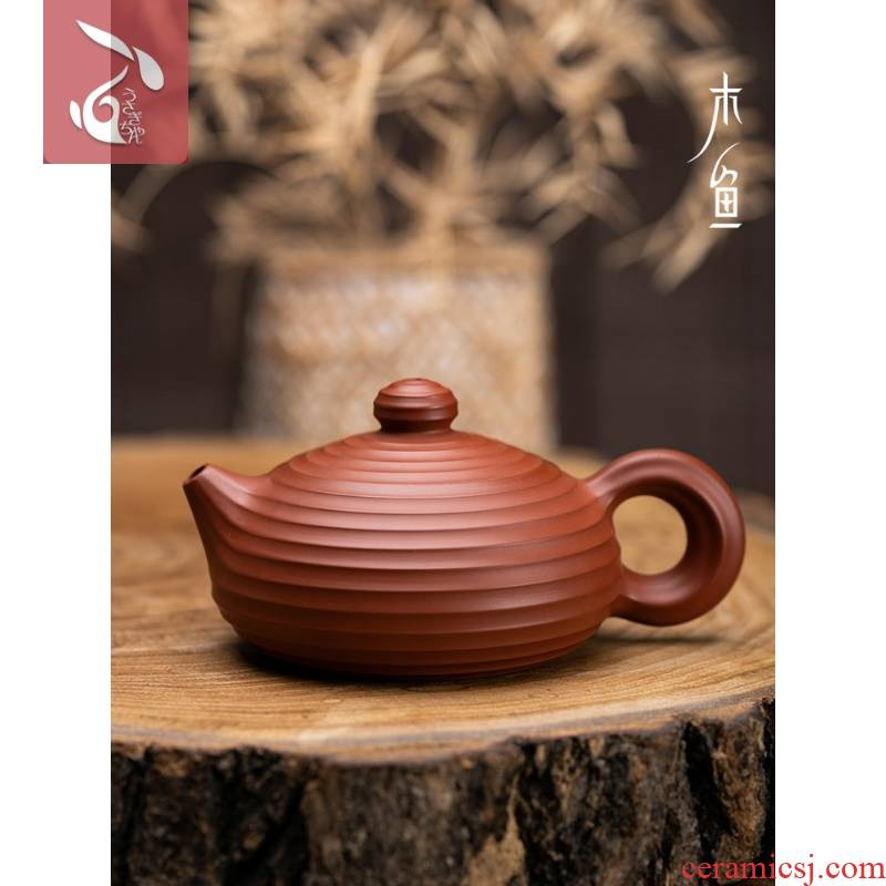 Wooden fish, chaozhou bunnyman clay pot of zhu xi shi hand pot a pot of about one thousand all it that can rotate the imperial concubine teapot