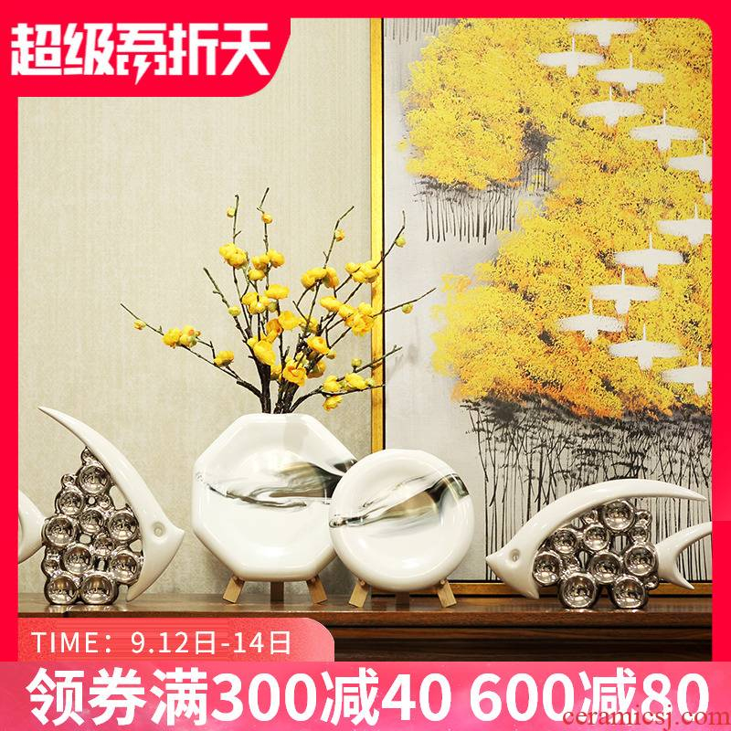 Wine accessories furnishing articles flower arranging I and contracted sitting room porch TV ark, soft outfit ceramic vase household act the role ofing is tasted