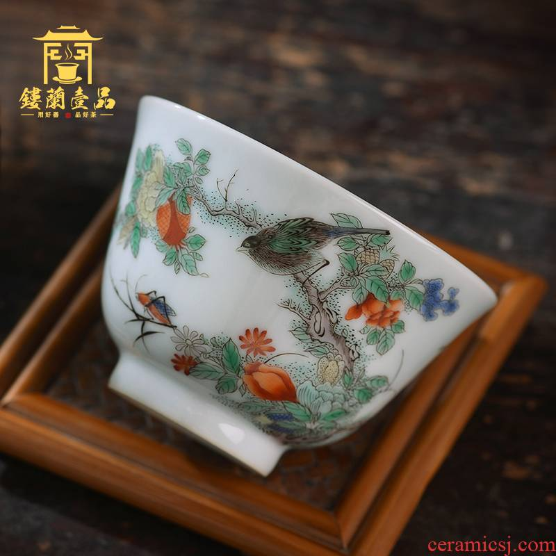 Jingdezhen ceramics all hand - made colors) the sound of your master cup tea cup personal single cup tea cups