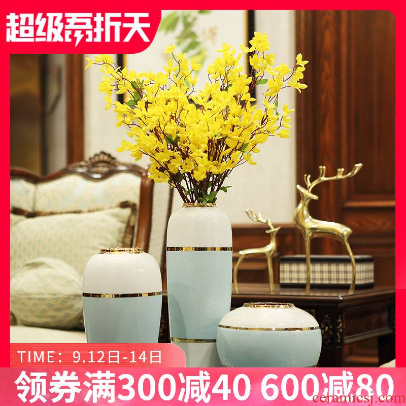Nordic light key-2 luxury furnishing articles of modern ceramic vase home TV ark, porch of dry flower arranging dried flowers sitting room adornment