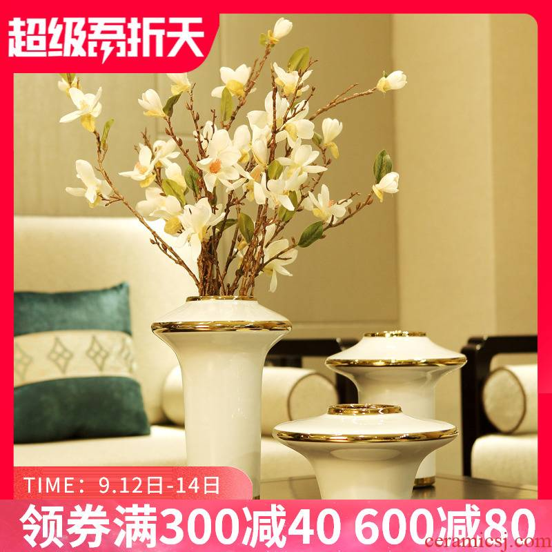 Modern light key-2 luxury ceramic vase decoration furnishing articles American TV ark, sitting room porch dry flower, creative household act the role ofing is tasted