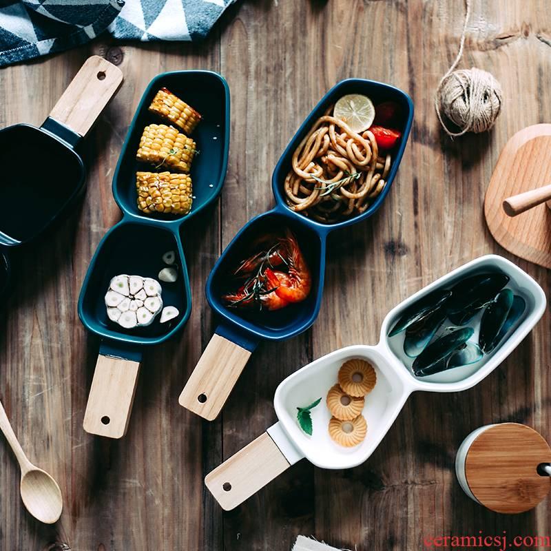 Creative Japanese ceramic bowl matte enrolled irregular second household utensils fruit salad bowl, bowl dessert bowl bowl for breakfast