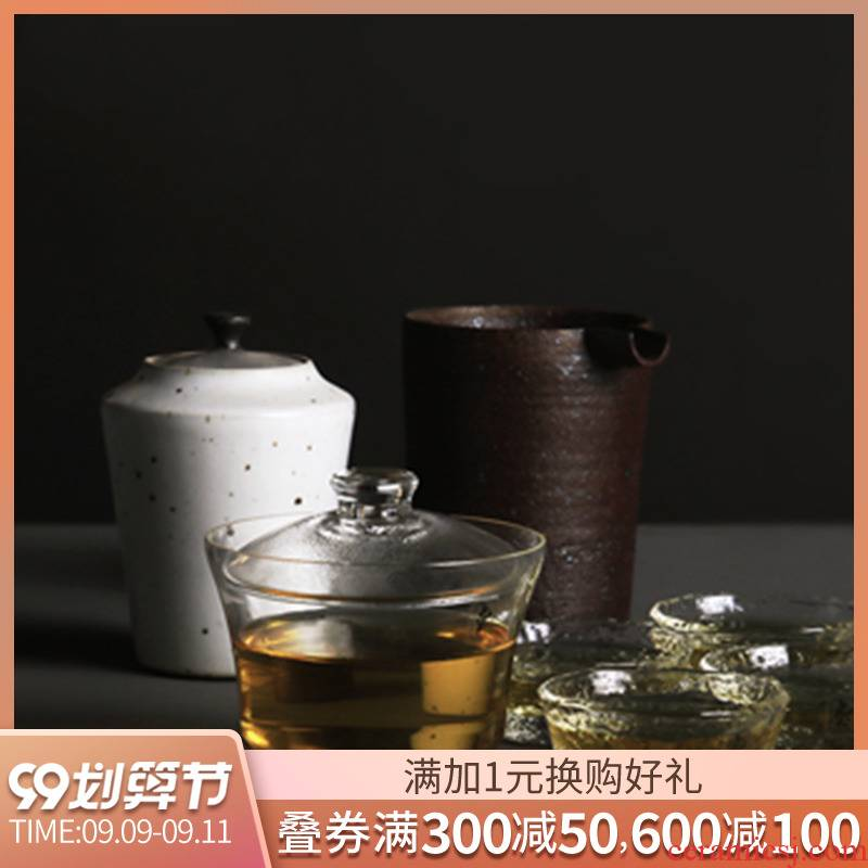 About Nine soil tureen tea set glass high - temperature coarse pottery hammer fair keller sample tea cup size coarse pottery tea pot