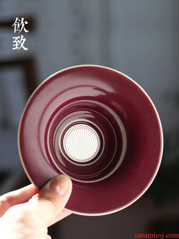 Ultimately responds to the ceramic tea strainer screen pack your up) tea Japanese masterpieces of creative move kung fu tea accessories