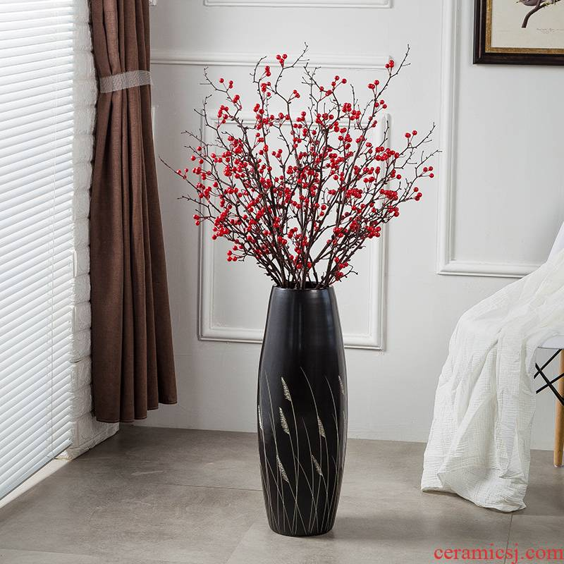 Jingdezhen ground vase large - sized ceramic I and contracted household ou porch decorative furnishing articles flower arranging a large living room