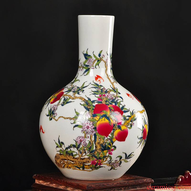 Chinese archaize ceramic vase furnishing articles sitting room put floral dried flower vase China TV ark, adornment