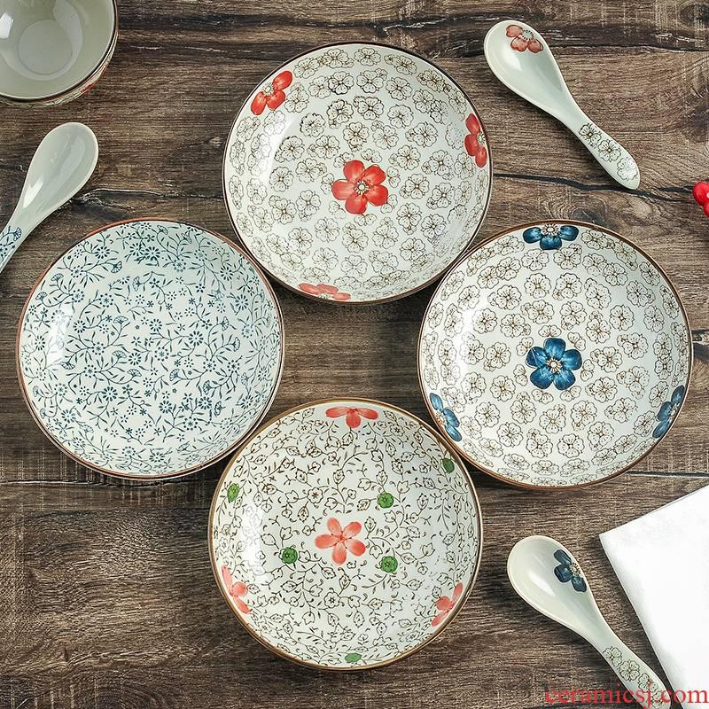 Vegetable dish Japanese dab of ceramic dish dish home fruit dumplings plate plate round ideas