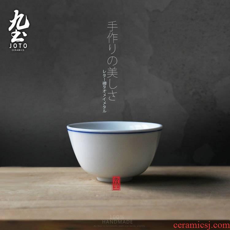About Nine soil hand - made porcelain kung fu tea set ceramic tea cups Japanese zen white glazed glass tea cup restoring ancient ways