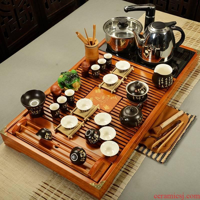 Qiao longed for a new Chinese kung fu of a complete set of ceramic tea set tea tea tea tea home office modern sea