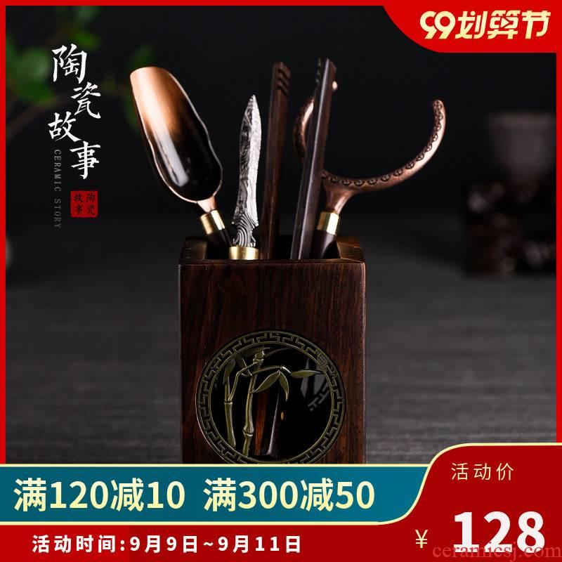 Ceramic story 6 gentleman 's suit kung fu tea tea tea tool accessories daqo ChaZhen ChaGa 6 gentleman