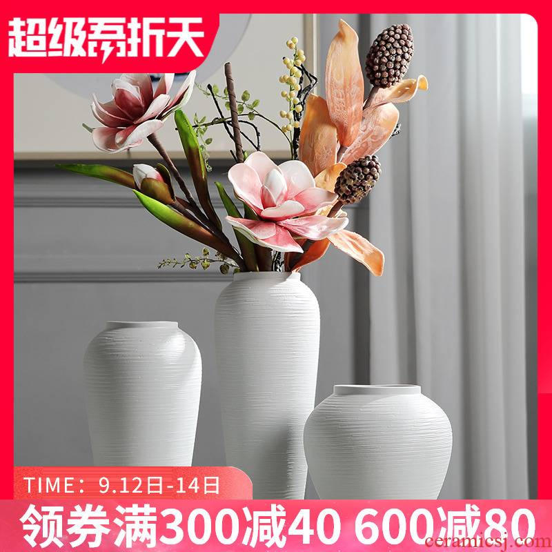 Jingdezhen Chinese style restoring ancient ways ceramic vase furnishing articles dried flower arranging flowers sitting room household act the role ofing is tasted TV ark, arts and crafts