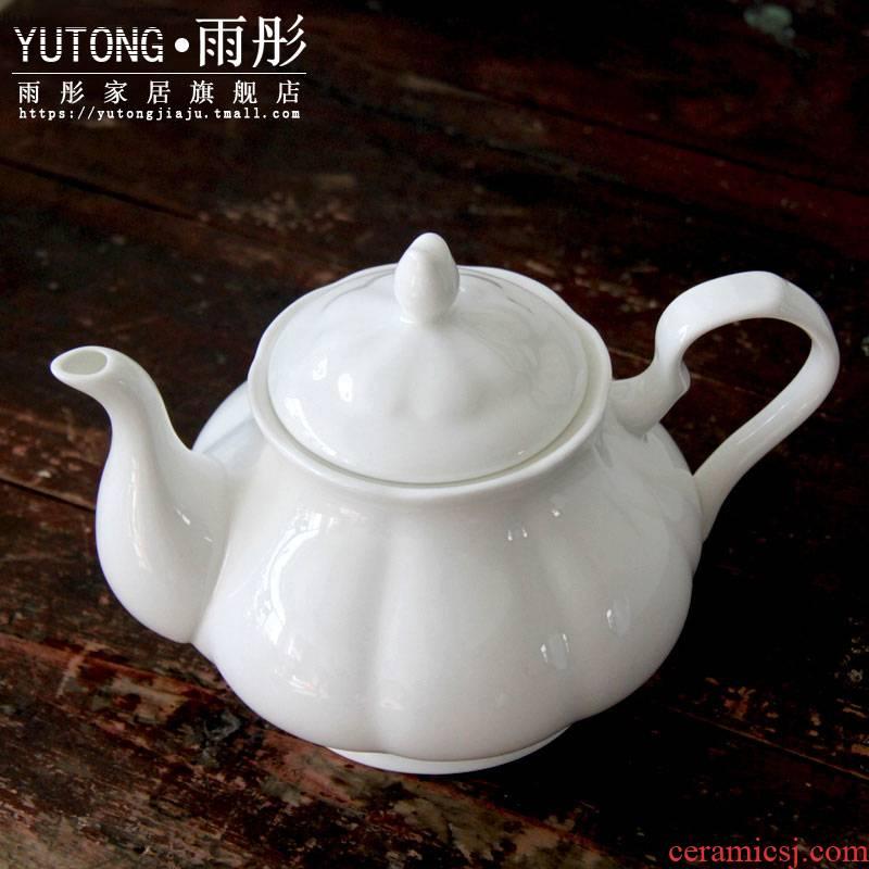 Feel the ipads porcelain European white coffee British red tea pot of coffee, coffee pot