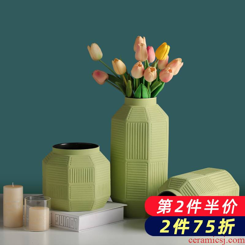 Nordic ceramic dry flower vase creative I and contracted home sitting room TV cabinet table arranging flowers adornment furnishing articles