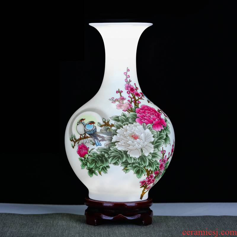 Jingdezhen ceramics flower arranging floret bottle furnishing articles of Chinese style living room TV ark, rich ancient frame home decoration arts and crafts