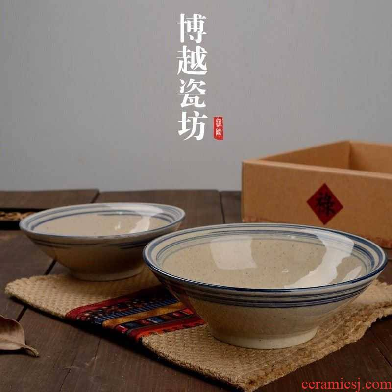 Vegetarian ancient antique dish bowl of old rural soil bowl fell bowl restaurant with Chinese people and tao ltd. farmhouse meal of rice