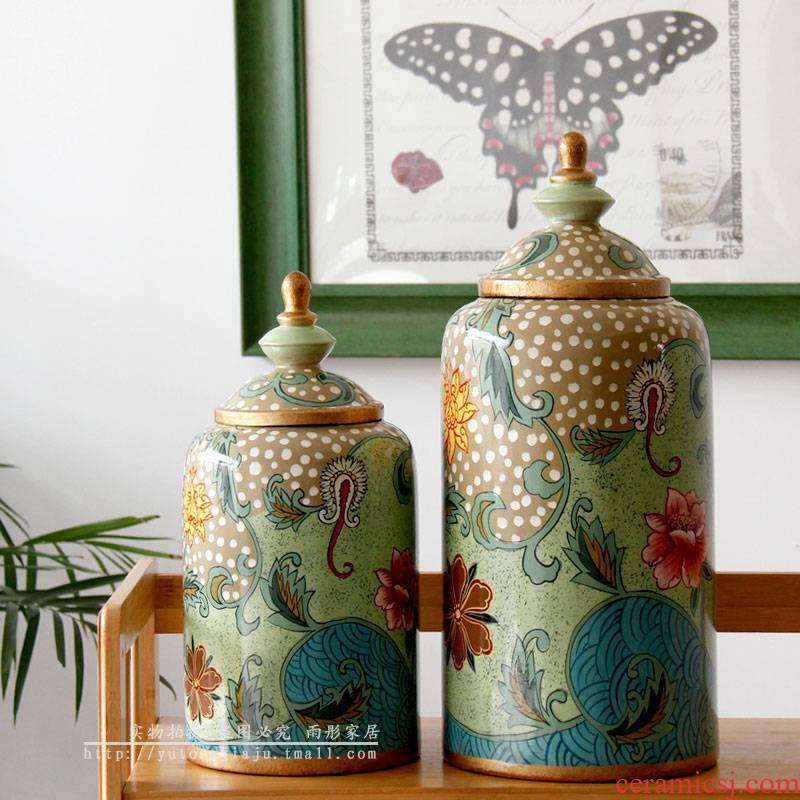 European Nordic style ceramic creative furnishing articles contracted a drum made the sitting room porch Daisy home decor accessories