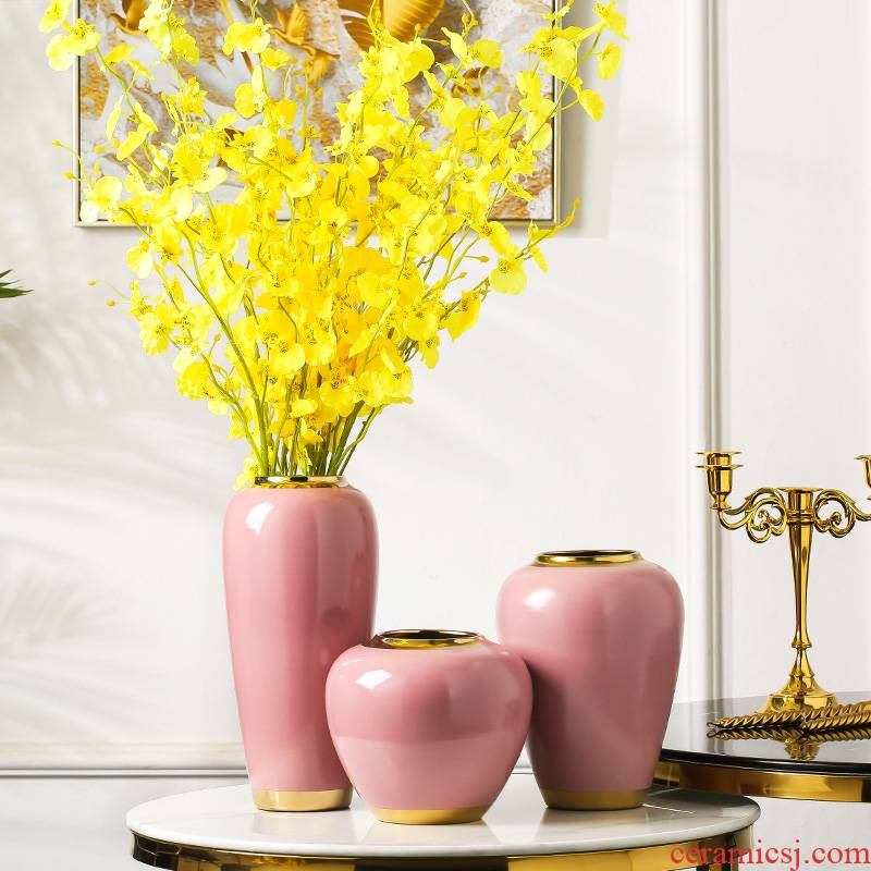I and contracted style is light and decoration ceramics dried flower vase furnishing articles sitting room flower arranging creative household act the role ofing is tasted table decoration